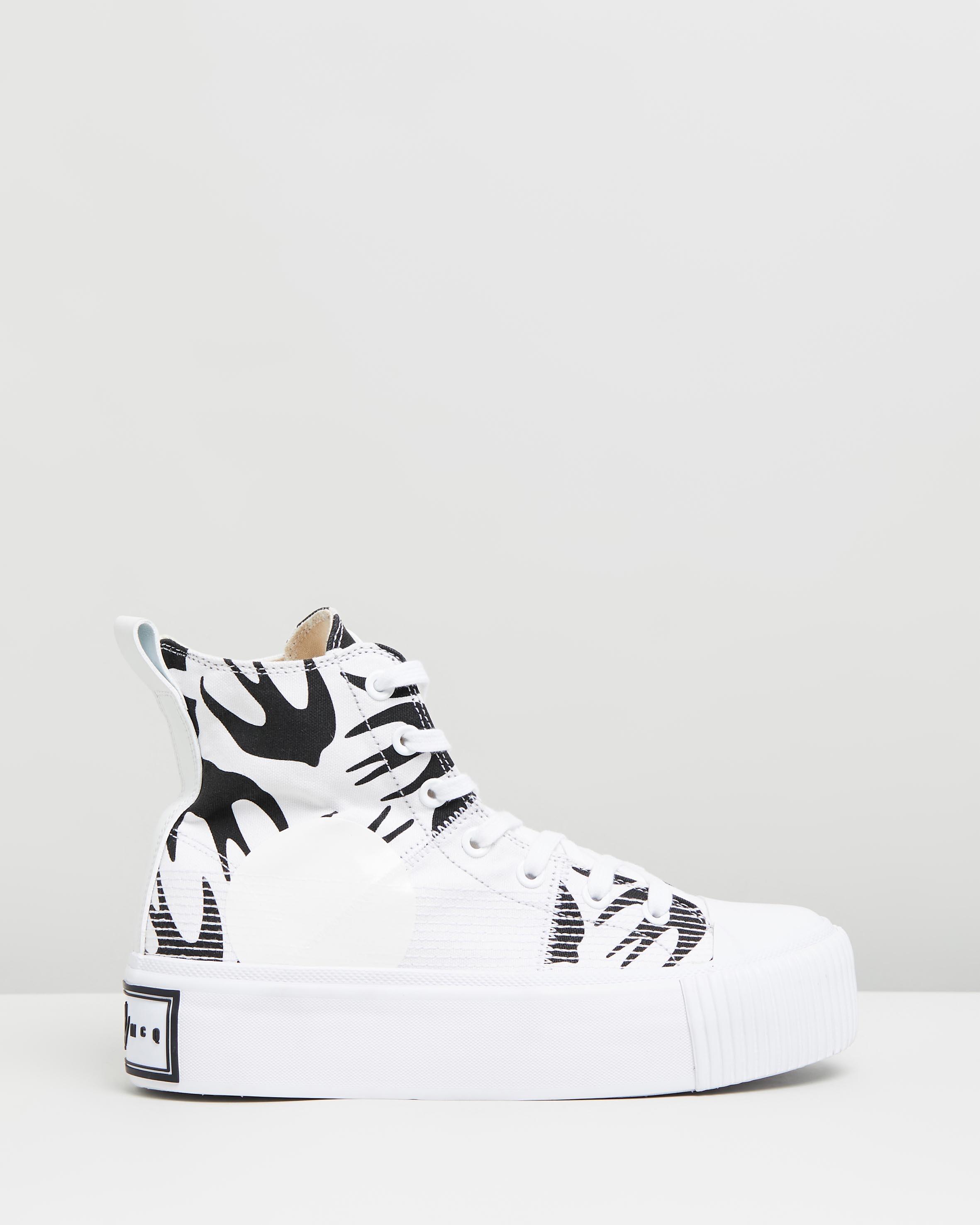 Plimsoll Platform Hi Sneakers White