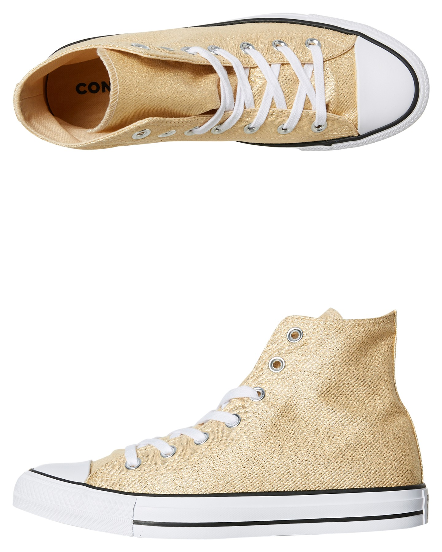Womens Chuck Taylor All Star Hi Shoe Metallic Twine By CONVERSE