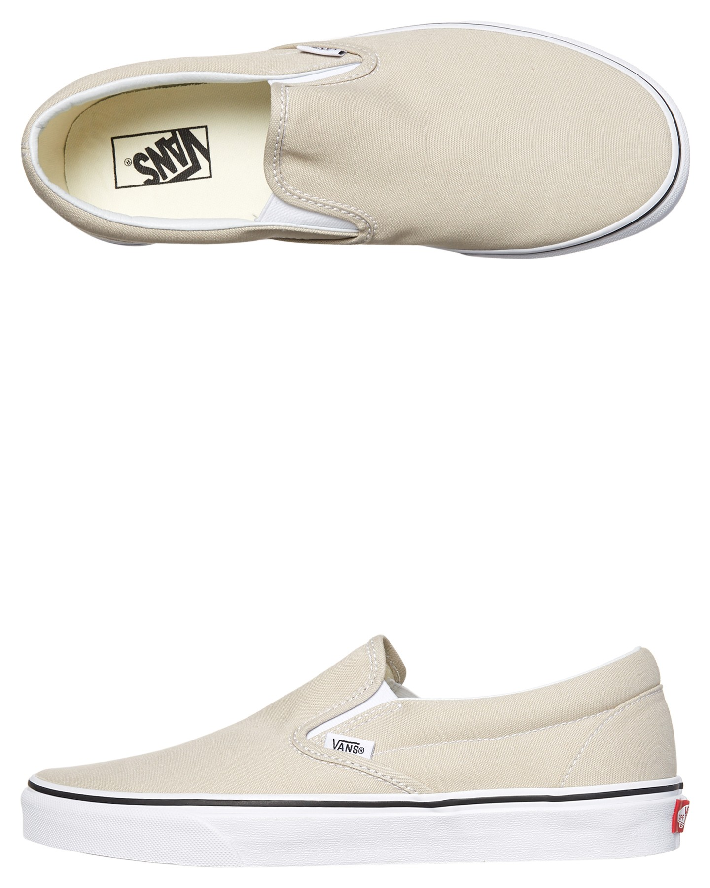 bc2628dc49 Silver Lining Wht Coloured Mens Classic Slip On Shoe Silver Lining Wht By  VANS