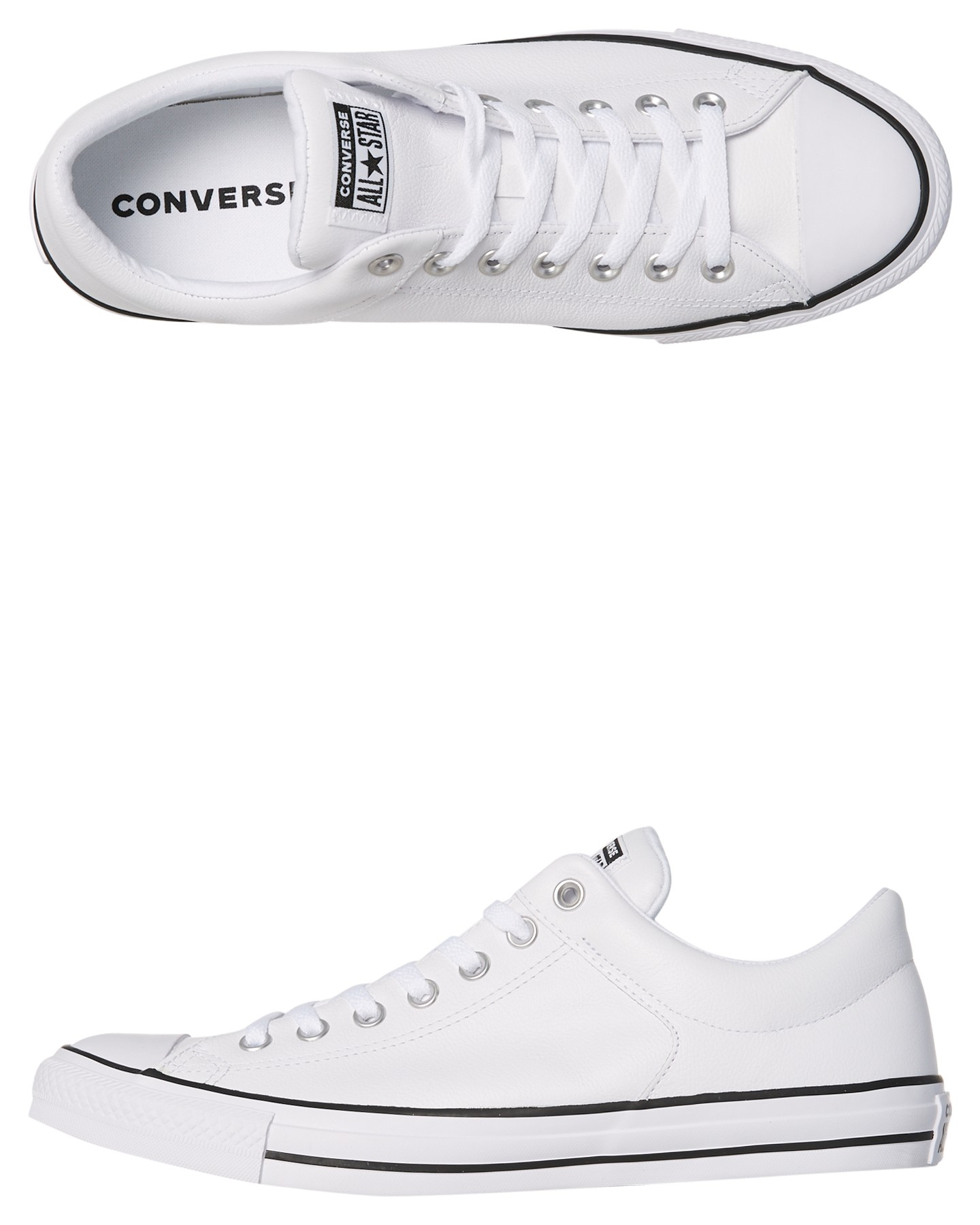 2682a35e5bf0 White Coloured Mens Chuck Taylor All Star Street Leather Shoe White By  CONVERSE