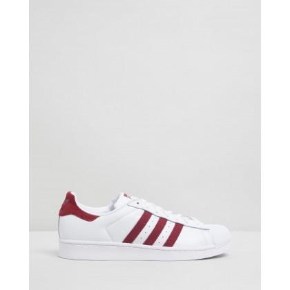 Superstar - Unisex Footwear White & Collegiate Burgundy by Adidas Originals
