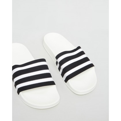 Adilette - Unisex White & Black by Adidas Originals