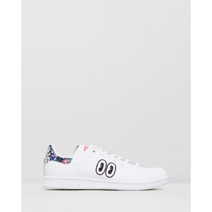 Stan Smith - Women's Feather White, Active Red & True Pink by Adidas Originals