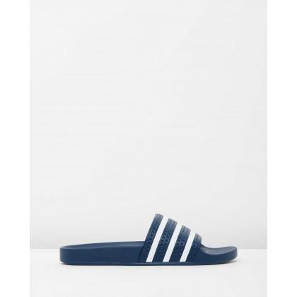 Adilette - Unisex Adiblue & White by Adidas Originals
