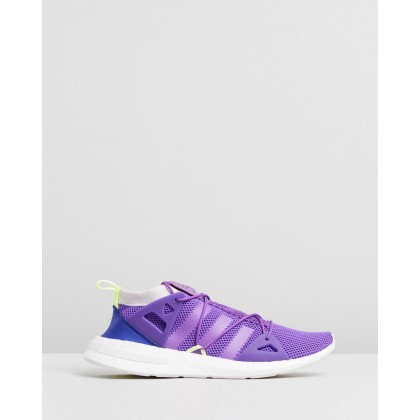 Arkyn Knit Shoes - Women's Active Purple & Hi-Res Yellow by Adidas Originals