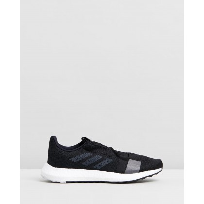 Senseboost Go - Women's Core Black, Grey Five & White by Adidas Performance