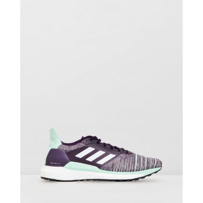 Solar Glide - Women's Legend Purple, Footwear White & Clear Mint by Adidas Performance