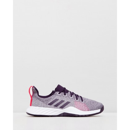 Solar LT Trainers - Women's Footwear White, Legend Purple & Shock Red by Adidas Performance
