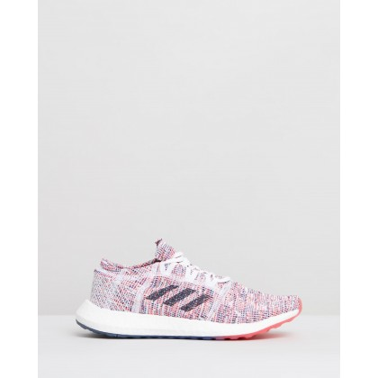 PureBOOST GO - Women's Shock Red, Legend Ink & Legend Ink by Adidas Performance