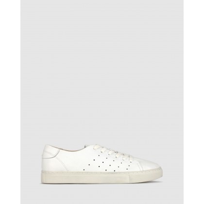 Nancy Leather Lifestyle Sneakers White by Airflex