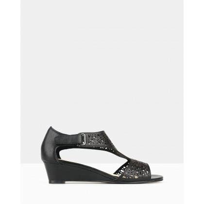 Moscow Wedge Sandals Black by Airflex