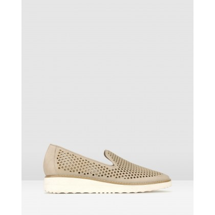 Bonsai Perforate Loafers Taupe by Airflex