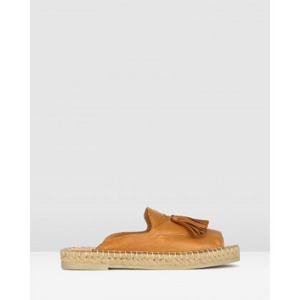 Love It Leather Espadrille Sandals Tan by Airflex