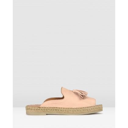 Love It Leather Espadrille Sandals Blush by Airflex