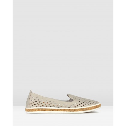 Louis Perforated Leather Loafers Ice by Airflex