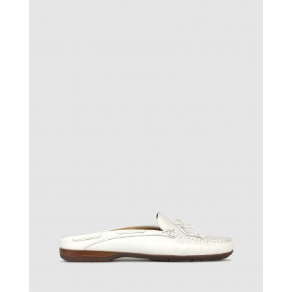 Superb Slip On Leather Loafers White by Airflex