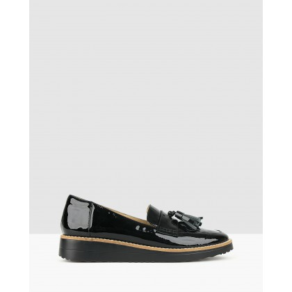 Dori Patent Leather Loafers Black by Airflex