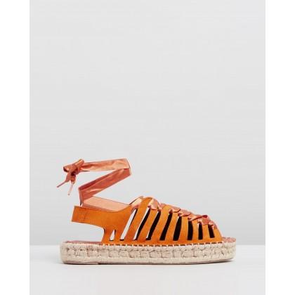 Formentera Orange by Alohas Sandals