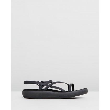Dimitra Comfort Black by Ancient Greek Sandals