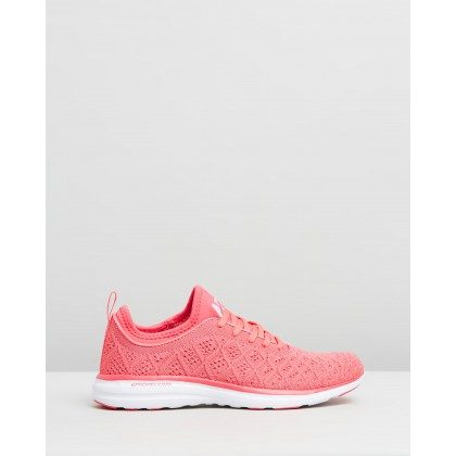 TechLoom Phantom - Women's Fire Coral & White by Apl