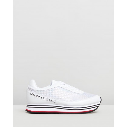 Lace Up Sneakers White by Armani Exchange