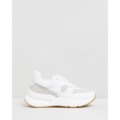 Sara Leather Sneakers White & Beige by Atmos&Here