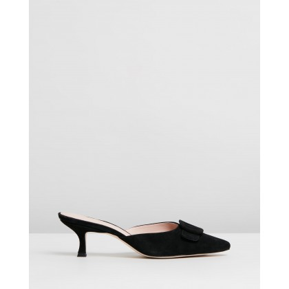 Ophelia Leather Heels Black Suede by Atmos&Here