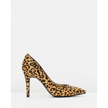 Elaine Leather Pumps Leopard Pony Hair by Atmos&Here