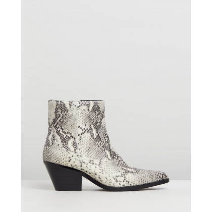 Overton Leather Ankle Boots Snakeskin Leather by Atmos&Here