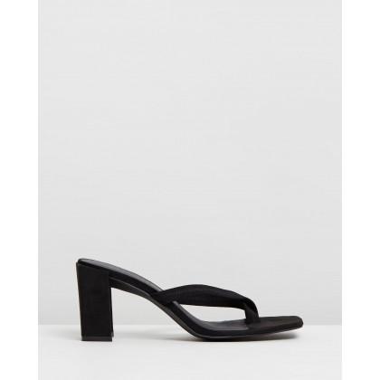VEGAN - Dandelion Heels Black Microsuede by Atmos&Here