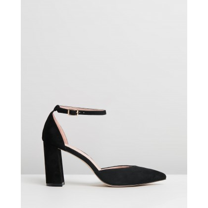 Dahlia Leather Pumps Black Suede by Atmos&Here