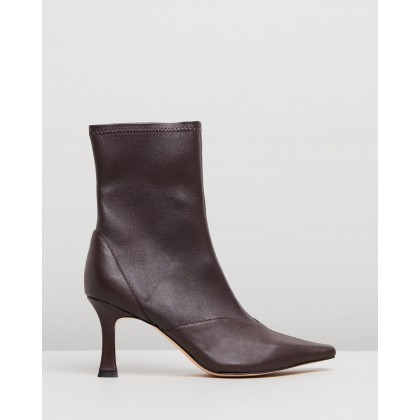 Tania Leather Ankle Boots Brown Leather by Atmos&Here