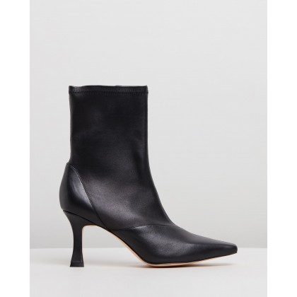 Tania Leather Ankle Boots Black Leather by Atmos&Here
