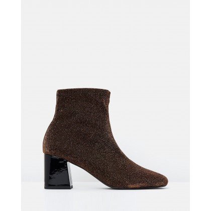 Tina Sock Ankle Boots Bronze Lurex by Atmos&Here