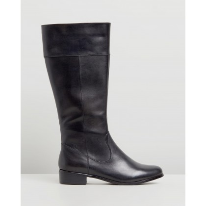 Lou Leather Boots Black Leather by Atmos&Here