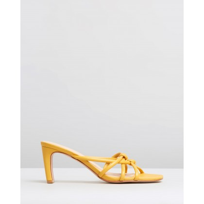 Mimi Leather Heels Tangerine by Atmos&Here