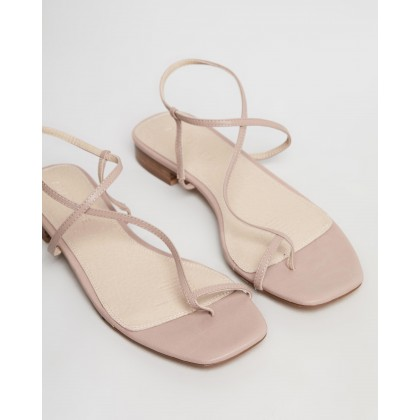 Florence Leather Sandals Nude Leather by Atmos&Here