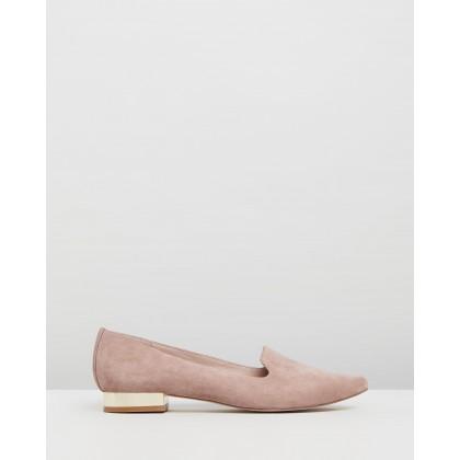 Tina Flats Dusty Pink Suede by Atmos&Here