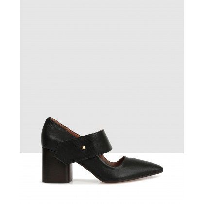 Alsen Court Shoes Black by Beau Coops