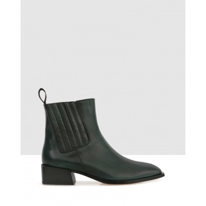 Randal Ankle Boots Green by Beau Coops