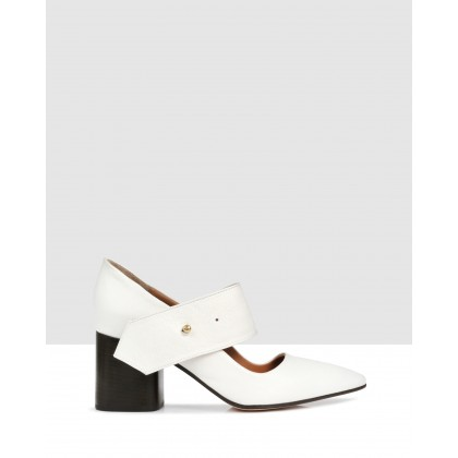Alsen Court Shoes Off White by Beau Coops