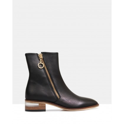 Skye Ankle Boots Black by Beau Coops