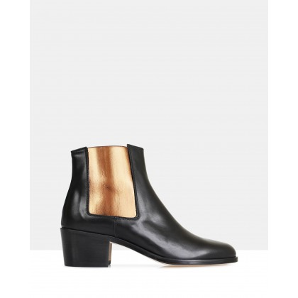 Jerry Leather Chelsea Boots Black by Beau Coops