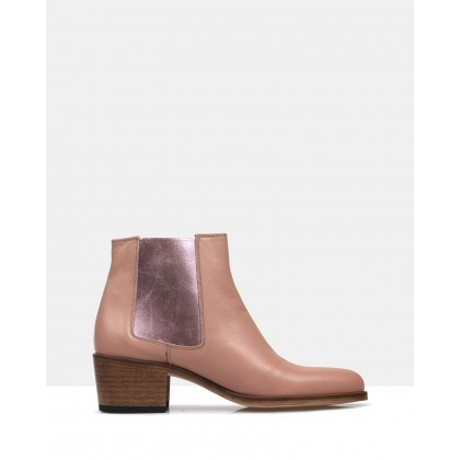 Jerry ankle boot Pink by Beau Coops