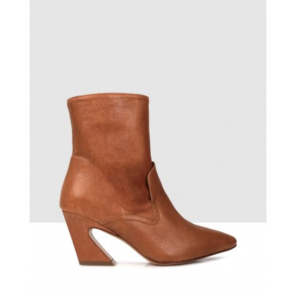 Ross Ankle Boots Brown by Beau Coops