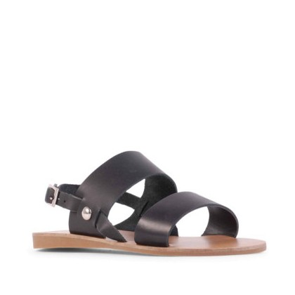Becca II - Black Waxy Calf by Siren Shoes