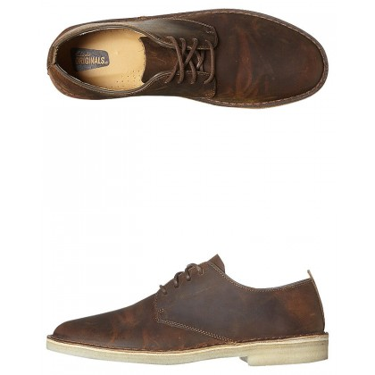 Mens Desert London Leather Shoe Beeswax