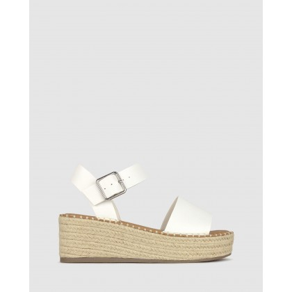 Bali Rope Flatform Sandals White by Betts