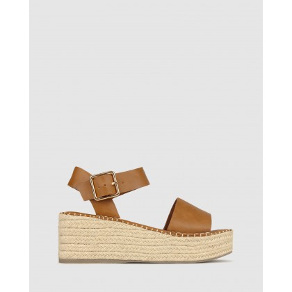 Bali Rope Flatform Sandals Tan by Betts