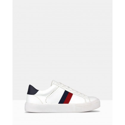Patriot Striped Sneakers White by Betts